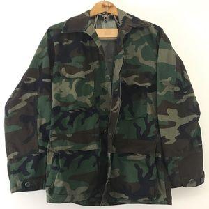 Vintage • Authentic Camo Military Jacket